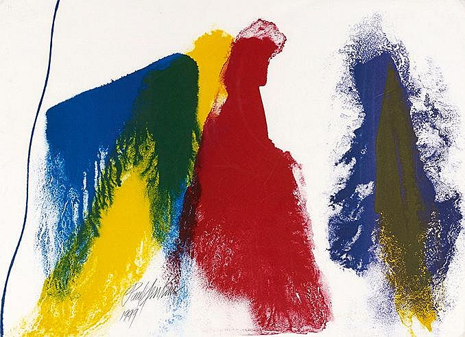 PAUL JENKINS (1923-2012) THRESHOLD, 1999 Lithographie en quatre couleu