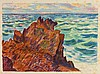 ARMAND GUILLAUMIN (1841-1927) LES ROCHERS ROUGES, 1896 (Johnson, 61 ;, Armand Guillaumin, €300