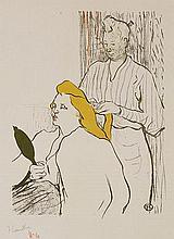 HENRI DE TOULOUSE LAUTREC (1864-1901) LA COIFFURE, PROGRAMME DU THEATR