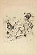 AUGUSTE RENOIR (1841-1919) ENFANTS JOUANT A LA BALLE, CIRCA 1900 (Delt