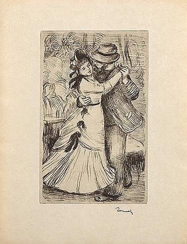 AUGUSTE RENOIR (1841-1919) LA DANSE A LA CAMPAGNE, 2E PLANCHE, CIRCA 1