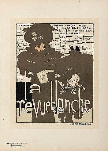 D'APRES PIERRE BONNARD (1867-1947) LA REVUE BLANCHE, PL.38, 1894 Litho