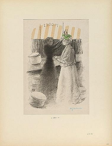 FELIX VALLOTTON (1865-1925) LE CHAPEAU VERT, 1896 (Goerg, 54) Planche