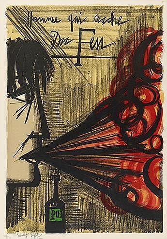 BERNARD BUFFET (1928-1999) LE CRACHEUR DE FEU, 1968 (Sorlier, 181) Lit