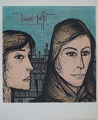 D'APRES BERNARD BUFFET (1928-1999) VISAGES, CIRCA 1965 Lithographie en