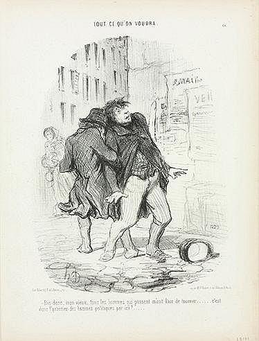 HONORE DAUMIER (1808-1979) CROQUIS PARISIEN Ensemble de 19 lithographi