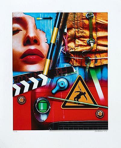 PETER KLASEN (NE EN 1935) SANS TITRE, 2016 Impression digitale en 2 D
