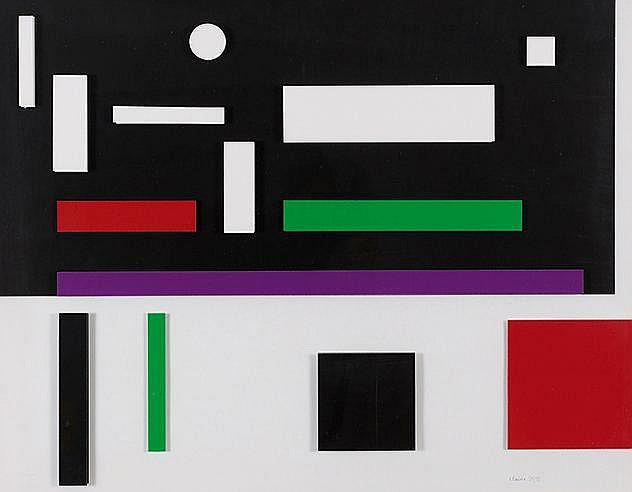 GENEVIEVE CLAISSE (NE EN 1935) PORTUGAL, 2014 Sérigraphie et collage e