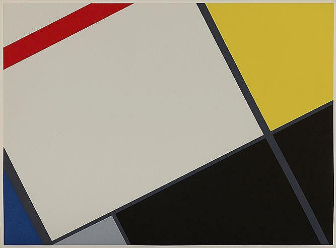 CESAR DOMELA (1900-1992) SANS TITRE Lithographie en couleurs sur vélin
