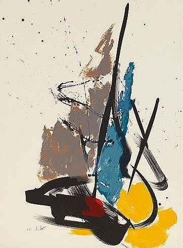 JEAN MIOTTE (1926-2016) SANS TITRE Lithographie en couleurs Signée et