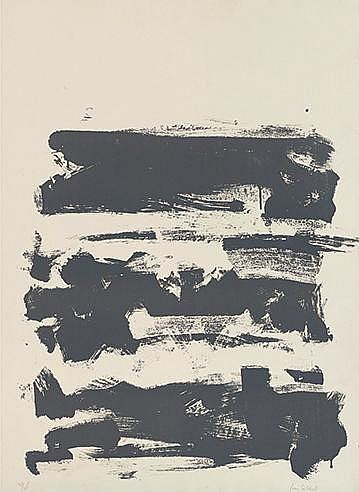 JOAN MITCHELL (1926-1992) FROM FIELD SERIES-GREY, 1990 Lithographie en