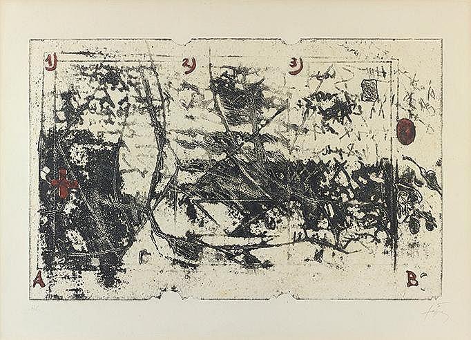 ANTONI TAPIES (1923-2012) SANS TITRE Gravure au carborundum sur vélin