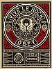 SHEPARD FAIREY (OBEY GIANT DIT) (NE EN 1970) VIVE LE ROCK, 2012 Sérigr, Shepard Fairey, €200