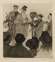 JACQUES VILLON (1875-1963) LE CONCERT SUR LA PLAGE, 1907 (Ginestet & P