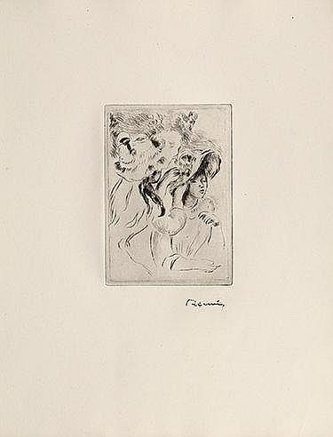 AUGUSTE RENOIR (1841-1919) LE CHAPEAU EPINGLE (LA FILLE DE BERTHE MORI