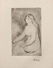 AUGUSTE RENOIR (1841-1919) BAIGNEUSE ASSISE, CIRCA 1897 (Delteil-Stell