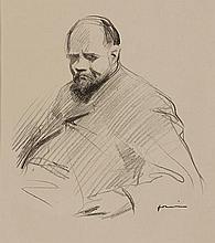 JEAN-LOUIS FORAIN (1852-1931) PORTRAIT D'AMBROISE VOLLARD, CIRCA 1867