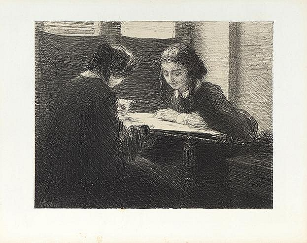 HENRI-THEODORE FANTIN LATOUR (1836-1904) LES BRODEUSES, 1898 (Hédiard,