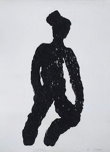 MICHEL HAAS (NE EN 1934) SANS TITRE Monotype Signé et dédicacé Pour He