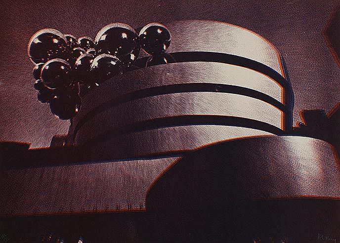 POL BURY (1922-2005) GUGGENHEIM MUSEUM, 1971 Lithographie en couleurs