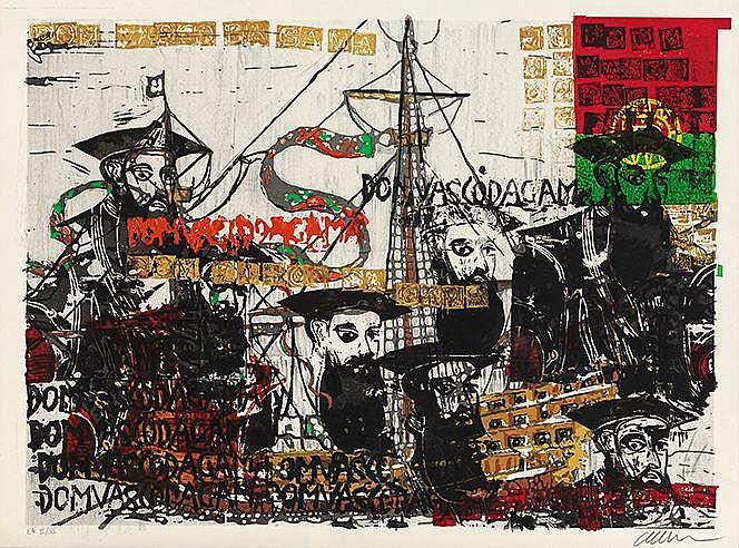 ARMAN (1928-2005) VASCO DE GAMA Lithographie en couleurs Signée et jus