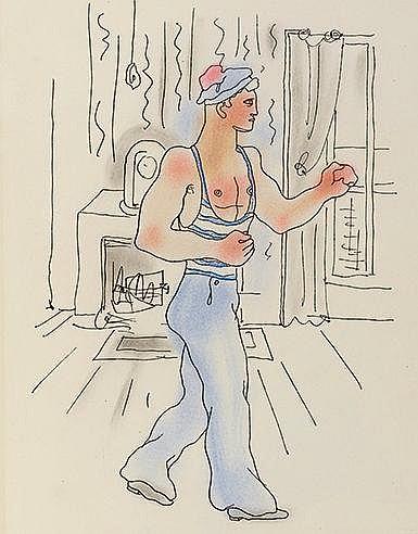 JEAN COCTEAU (1889-1963) LE LIVRE BLANC, 1930 Ouvrage comprenant un en