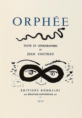 JEAN COCTEAU (1889-1963) ORPHEE, 1944 Ouvrage comprenant un ensemble d