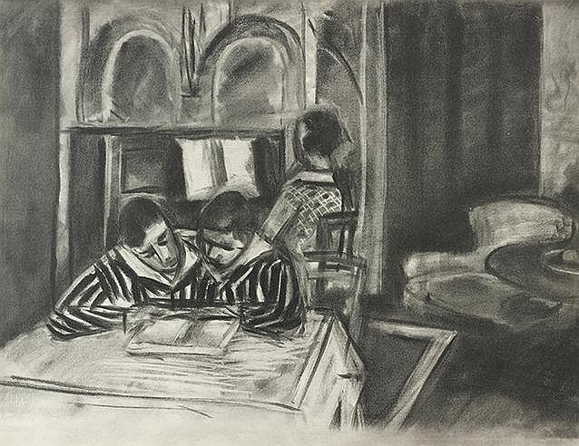 D'APRES HENRI MATISSE (1869-1954) SCENE D'INTERIEUR, 1933 Collotype en