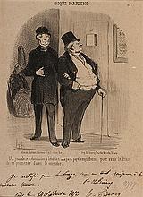 HONORE DAUMIER (1808-1979) BONS BOURGEOIS & CROQUIS PARISIENS Ensemble