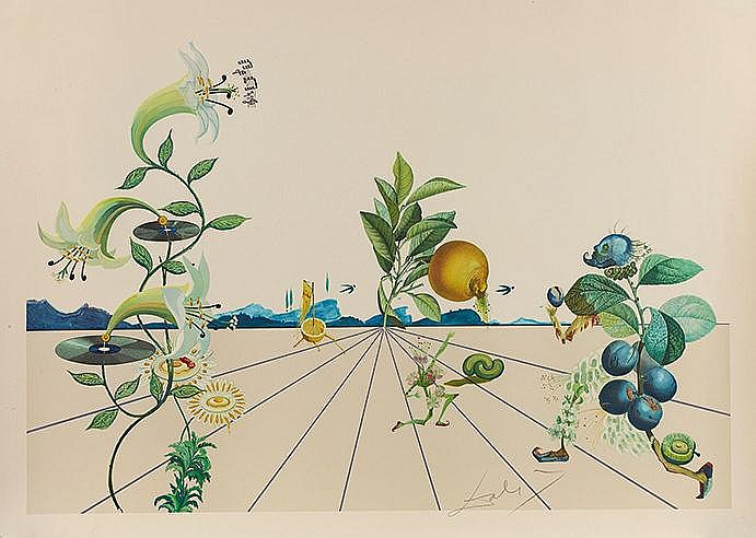 SALVADOR DALI (1904-1989) FLORDALI I, 1981 (Prestel, 1586) Lithographi