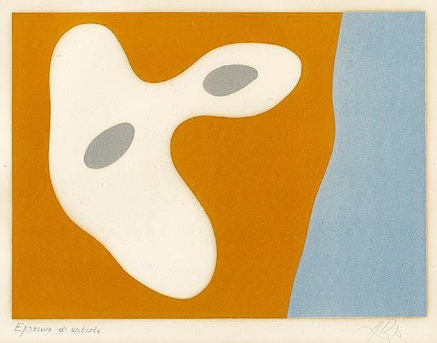 HANS ARP (1887-1966) CONFIRGURATION MEDITERRANEENNE, 1949 (Arntz, 279)
