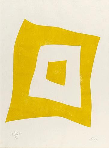 HANS ARP (1886-1966) CONFIGURATION II, 1949 (Arntz, 281/B) Bois gravé