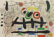 JOAN MIRO (1893-1983) LE LEZARD AUX PLUMES D'OR, 1964 (Mourlot , 461)