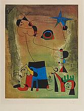 D'APRES JOAN MIRO (1893-1983) LE CHIEN BLEU, 1959 (Maeght, 1714) Eau-f