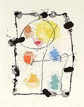 JOAN MIRO (1893-1983) JE TRAVAILLE COMME UN JARDINER, 1963 (Cramer, 85