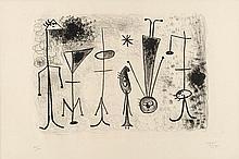JOAN MIRO (1893-1983) LE PLONGEUR, 1948 (Mourlot, 65) Lithographie en