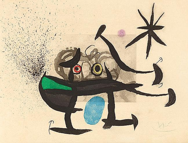 JOAN MIRO (1893-1983) L'INVENTION DU REGARD, 1970 (Dupin, 357) Eau for