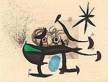 JOAN MIRO (1893-1983) L'INVENTION DU REGARD, 1970 (Dupin, 357) Eau for
