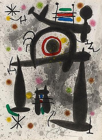 JOAN MIRO (1893-1983) LE MIROIR DE L'HOMME PAR LES BETES (Cramer, 159)