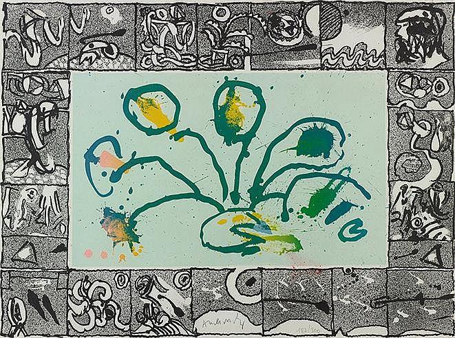 PIERRE ALECHINSKY (NE EN 1927) BABORD, 1968 (Rivière, 348) Lithographi