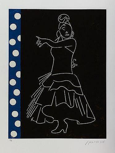 EDUARDO ARROYO (NE EN 1937) FLAMENCO, 2015 Lithographie en couleurs Si