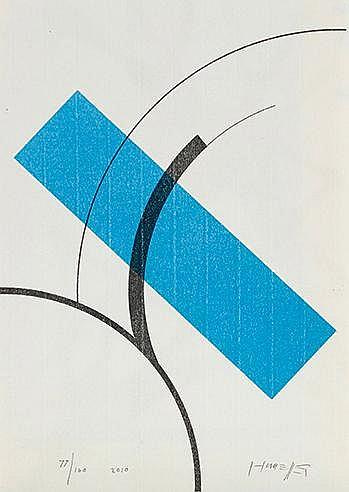 GOTTFRIED HONEGGER (1917-2016) SANS TITRE, 2010 Sérigraphie en couleur