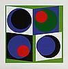 GENEVIEVE CLAISSE (NE EN 1935) SANS TITRE Ensemble de 3 sérigraphies s