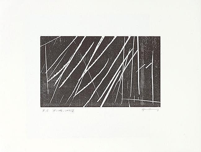 HANS HARTUNG (1904-1989) Ensemble de deux œuvres: H 16, 1973 (RMM, 389