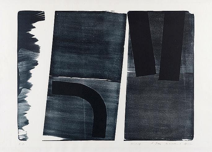 HANS HARTUNG (1904-1989) L 15, 1974 (RMM, 476) Lithographie sur vélin