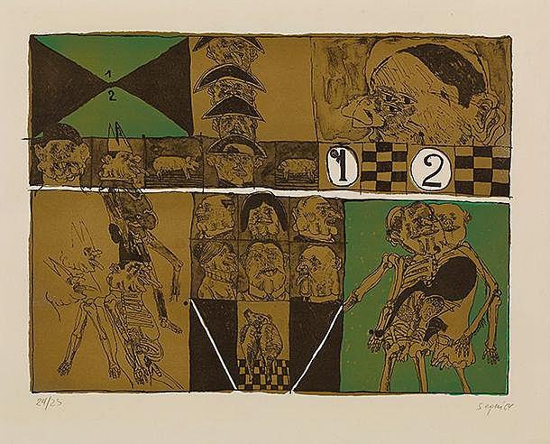 ANTONIO SEGUI (NE EN 1934) UNE PEQUENA HISTORIA, 1964 Lithographie en