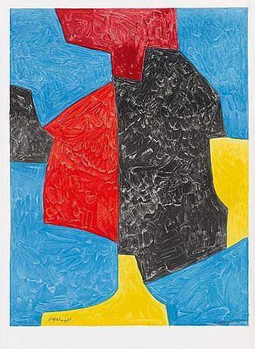 D'APRES SERGE POLIAKOFF (1900-1969) COMPOSITION, CIRCA 1975 Lithograph