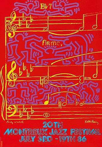 ANDY WARHOL (1928-1987) & KEITH HARING (1958-1990) 20TH MONTREUX JAZZ
