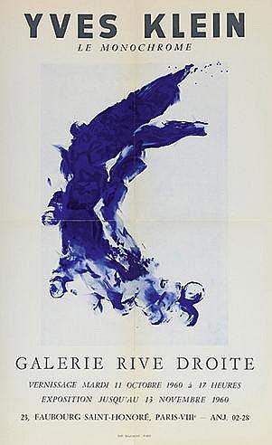 YVES KLEIN (1928-1962) LE MONOCHROME, 1960 Affiche de l'exposition epo