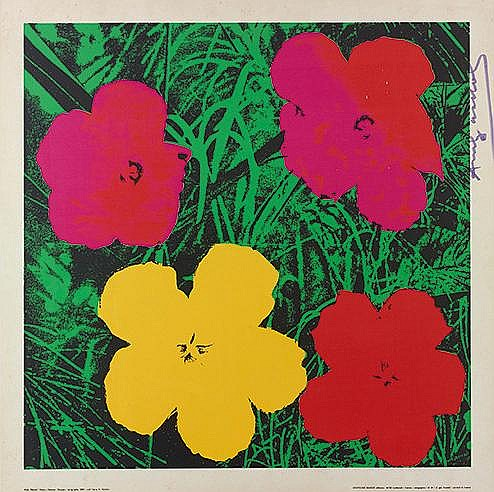 ANDY WARHOL (1928-1987) FLOWERS, 1970 Offset sérigraphie en couleurs S